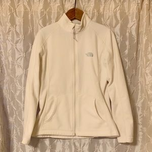 The North Face Cream Fleece Zip Up Jacket